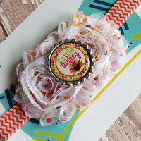Little turkey Thanksgiving stretch headband~great photo prop!