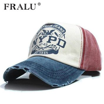 Trendy Winter Jacket FRALU lsale brand cap baseball cap fitted hat Casual cap gorras 5 panel hip hop snapback hats wash cap for men women unisex AT_92_12