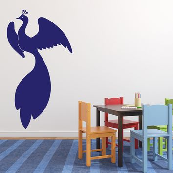 Vinyl Decal Bird Unearthly Beauty Magic Gorgeous Tail Wings Wall Sticker (n592)