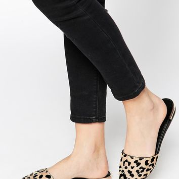 ALDO Luma Leopard Pointed Flat Mule Shoes