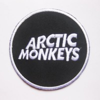 "ARCTIC MONKEYS music Rock Metal sew iron on Patch Badge Embroidery 7.5x7.5 cm 3"" MS-53"