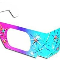 3D July Fourth Fireworks Glasses w Rainbow Frames Pattern Diffraction Lenses- Pack of 10