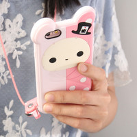 3D Cartoon Phone Case For iphone 6 6S Iphone 6 S Plus Soft Silicon Rubber Cover Cute Girly Animal Couque For Iphone6 Souple