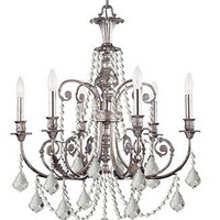Crystorama Lighting, Regis 6-Light Chandelier - Lighting & Lamps - furniture - Macy's