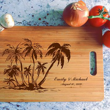 ikb616 Personalized Cutting Board Costa Rica beaches wooden wedding gift wedding