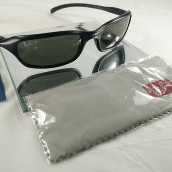 RARE RAY-BAN WRAP SUNGLASSES RB 4027 CUTTERS 601-S/40 W/Cloth L@@K