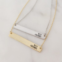 Best Friends Bar Necklace