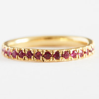 Ruby Eternity Band by Lauren Wolf for Of a Kind
