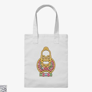 Neon Homer, The Simpsons Tote Bag