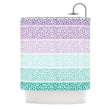 purple and teal shower curtain. Pom Graphic Design  Riverside Pebbles Colored Purple Teal Shower Curtain Shop And Curtains on Wanelo