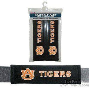 Auburn Tigers 2-pack Velour Seat Belt Pads Covers War Eagle University of