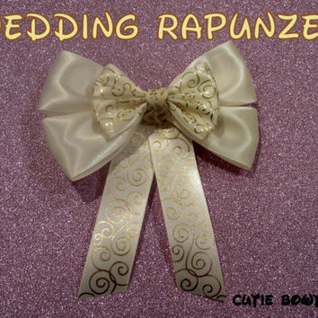 Rapunzel Wedding Dress Hair Bow Tangled Ever After Disney Inspired