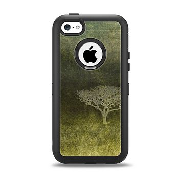 The Deep Green Tree Pastel Painting Apple iPhone 5c Otterbox Defender Case Skin Set