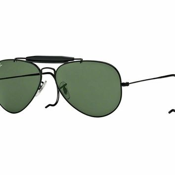 RayBan Outdoorsman Sunglasses - Black Green Classic G-15 - 3030 L9500 58-14