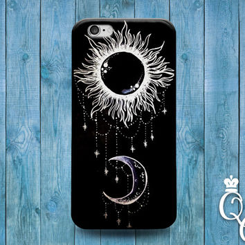 iPhone 4 4s 5 5s 5c 6 6s plus iPod Touch 4th 5th 6th Generation Cute Sun Moon Black White Jewelery Adorable Cover Beautiful Fun Phone Cover