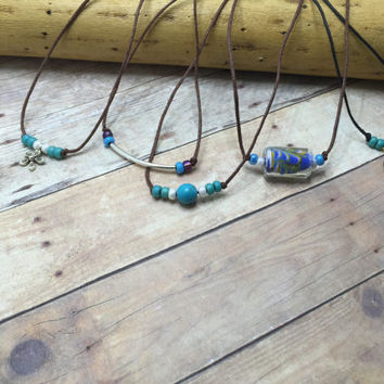 Choker Necklace, Bohemian Choker Necklace, Bead Choker, Simple Choker, hemp choker, charm choker minimalist choker, choker for her