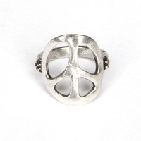 Silver Peace Ring