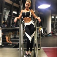 CREY78W 2017 Women Sports Yoga Pants Running Athletic Leggings Quick Dry Yoga Gym Workout Clothes Roupa Ciclismo#EW
