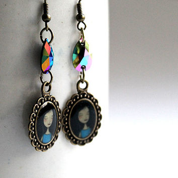Good Night - Unique Original Handmade Earrings