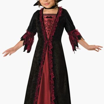 Girl's InCharacter Costumes 'Vampiress' Dress & Collar,