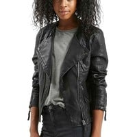 Topshop 'Polly' Faux Leather Biker Jacket | Nordstrom