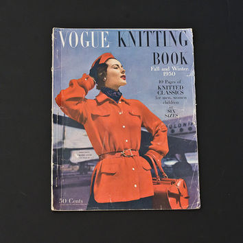 Vogue Knitting Book, Fall and Winter 1950, Knitted Classics for Men, Women and Children