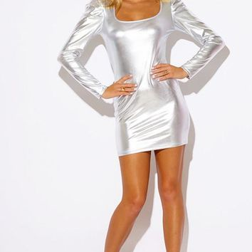 Metallic Liquid Bodycon Dress - SALE!