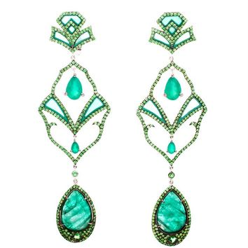 Semiramis Emerald Earrings - DIONEA