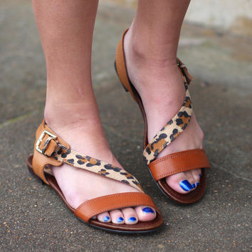 Ester Leopard Sandals {Tan Mix}