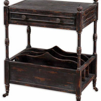 Uttermost Phineas Antiqued Magazine Table - 24158