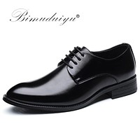 Classic Man Pointed Toe Dress Shoes Men Patent Leather Black Wedding Shoes Oxford Formal Shoes