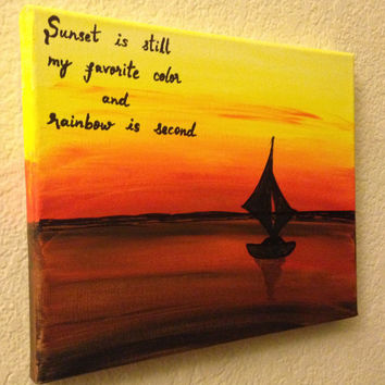 Sunset art Sunset quotes Canvas quotes Canvas quote painting Colorful art Ocean decor Nature painting Acrylic painting Canvas art Wall decor