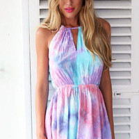 Multicolor printing fashion rompers jumpsuit