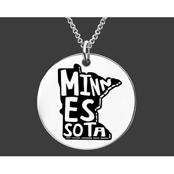 Minnesota State Necklace | Personalized State Necklace