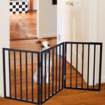 Standing Wooden Pet Gate-