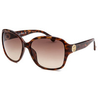 Michael By Michael Kors M2842S-240-58 Women's Sophia Square Havana Sunglasses