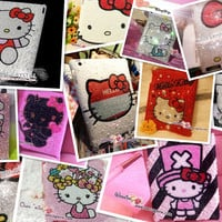 Swarovski / Czech Crystal 2D HELLO KITTY iPad / Samsung Galaxy Tab / Nexus / other Bling Tablet Cases  - ZoeCrystal