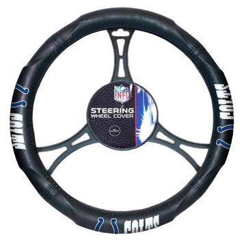 "Indianapolis Colts NFL Steering Wheel Cover (made to fit steering wheels 14.5"" – 15.5"")"