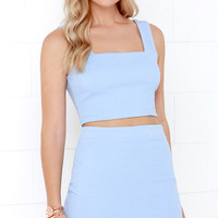 Almost Doesn't Count Periwinke Bodycon Two-Piece Dress