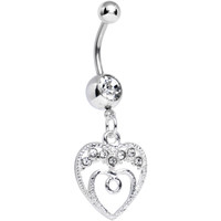 Clear Gem Grow with Love Dangle Belly Ring | Body Candy Body Jewelry