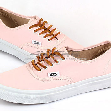 b3007a5638 Vans Authentic Slim (Brushed Twill) Soft Pink Lifestyle Casual Shoes  VN-0QEV7GS