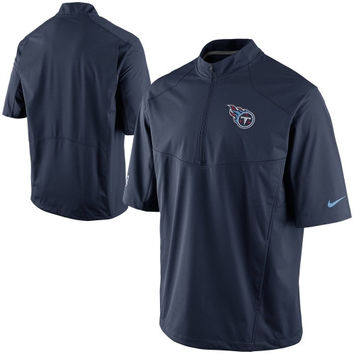 Tennessee Titans Nike Quarter Zip Hot Jacket - Navy Blue