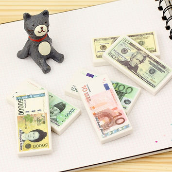 Cute cartoon currency eraser