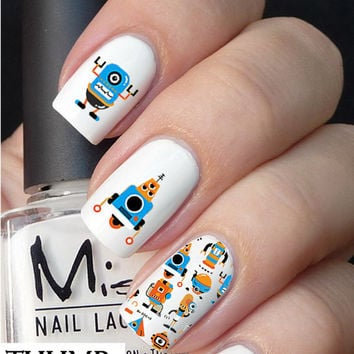 Cute Robot Nail decal