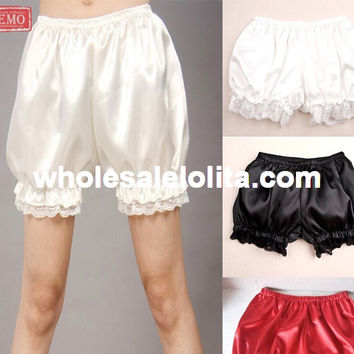 Top Sale 4 Colors  Lolita Cute Women Shorts Lolita Bloomers  Any Size