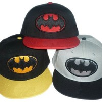 COOL BATMAN LOGO SNAPBACK HAT