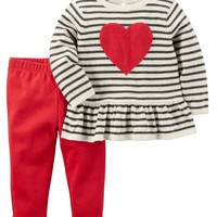 2-Piece Heart Top & Pant Set