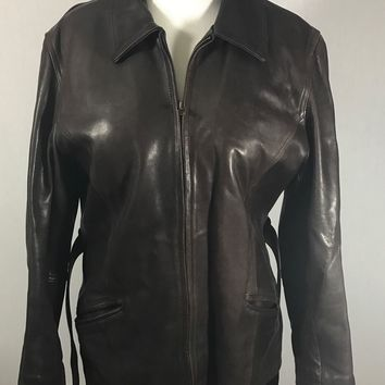 Vintage  LEATHER GERMAN MOTORCYCLE SPORTCOAT Jacket BROWN