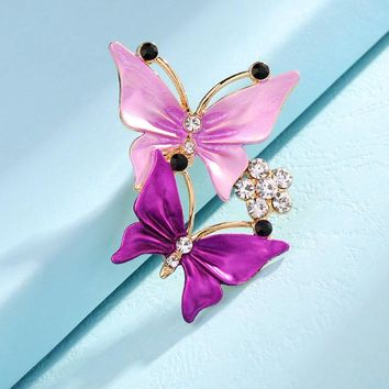 Double Butterfly Pin