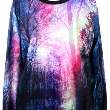 Photographic Print Sweatshirt
